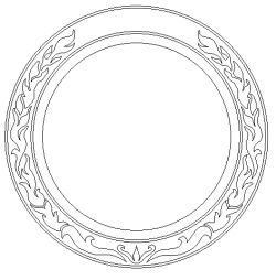 A more refined CAD drawing of Rosette